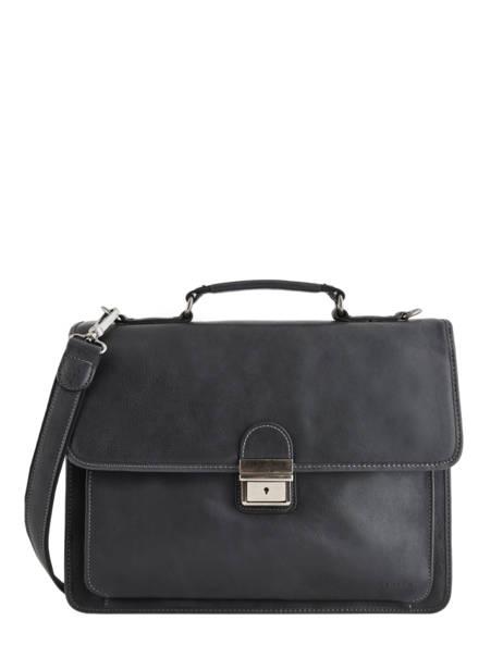 Briefcase 2 Compartments Etrier Black spider S34205