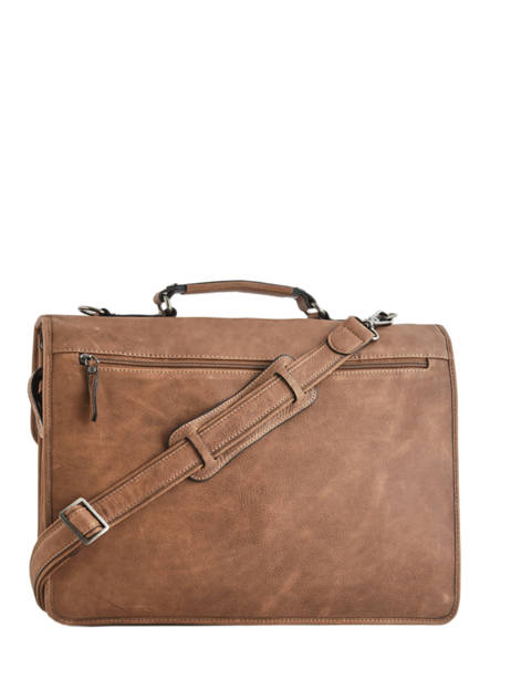 Briefcase 3 Compartments Etrier Brown spider S34207 other view 3