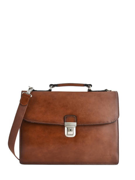 Briefcase 2 Compartments Etrier Brown 63041