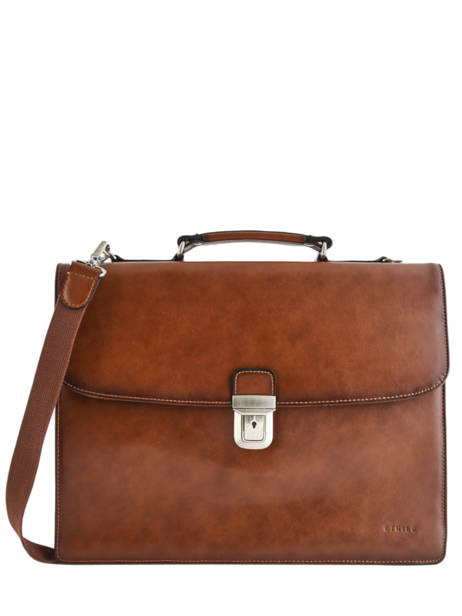 Briefcase 3 Compartments Etrier Brown 63043
