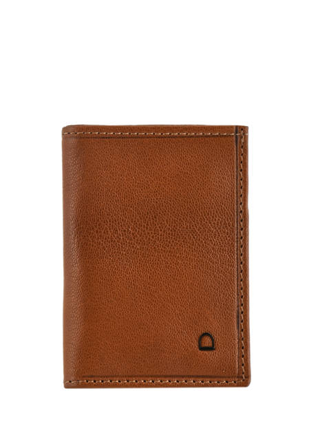 Card Holder Leather Etrier Brown sabot 800013