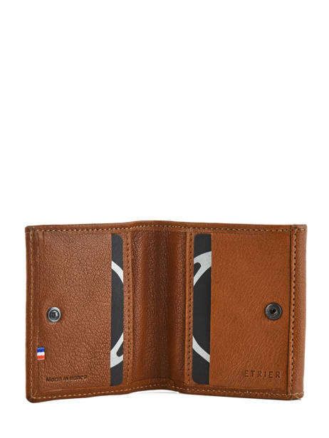 Small Leather Wallet Etrier Brown sabot 800096 other view 3