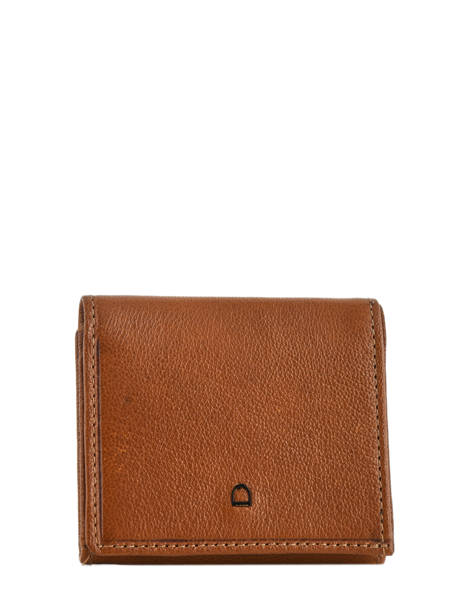 Small Leather Wallet Etrier Brown sabot 800096