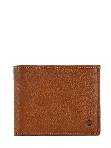 Wallet Leather Etrier Brown sabot 800121