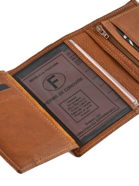 Wallet Leather Etrier Brown sabot 800149 other view 3
