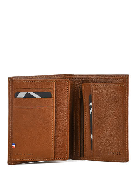 Wallet Leather Etrier Brown sabot 800149 other view 2