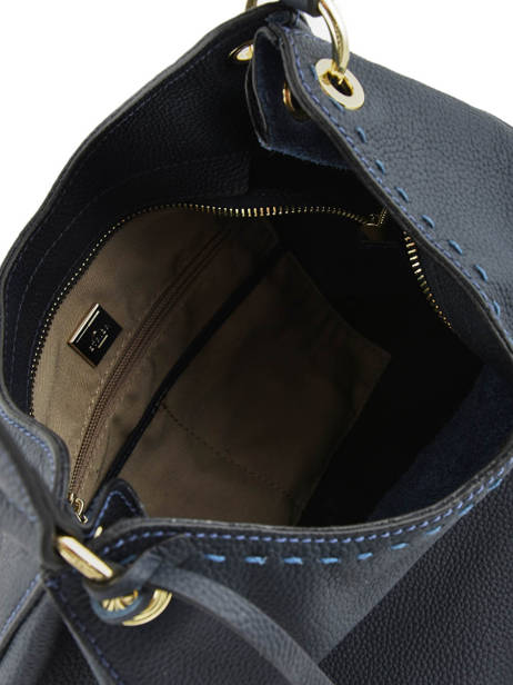 Hobo Bag Tradition Leather Etrier Blue tradition EHER021 other view 5