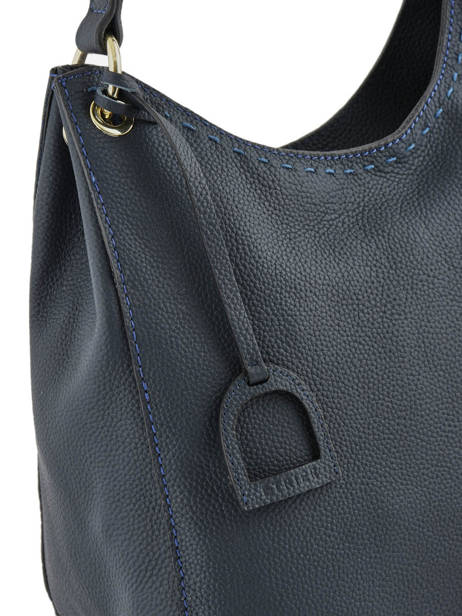 Hobo Bag Tradition Leather Etrier Blue tradition EHER021 other view 1