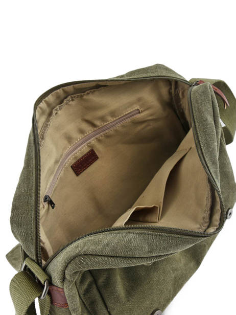 Messenger Bag Etrier Green canvas 6584 other view 3