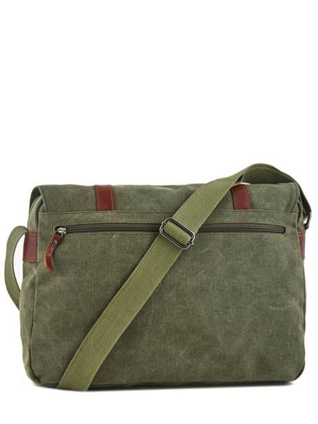 Messenger Bag Etrier Green canvas 6584 other view 4