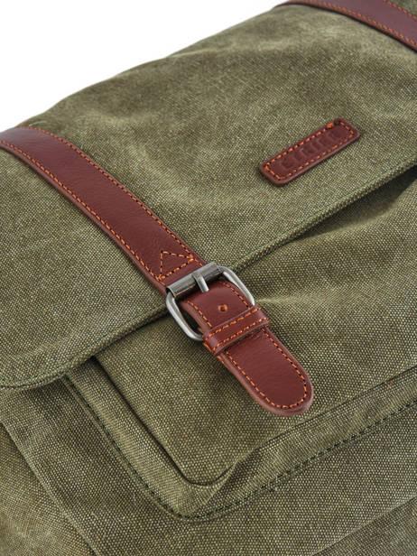 Messenger Bag Etrier Green canvas 6584 other view 1