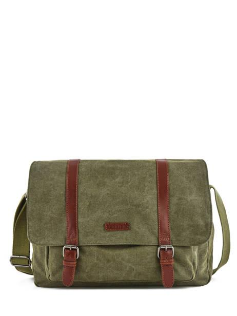 Messenger Bag Etrier Green canvas 6584