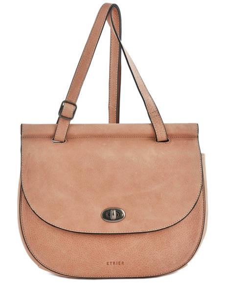 Shoulder Bag Casac Leather Etrier Pink casac ECAS01