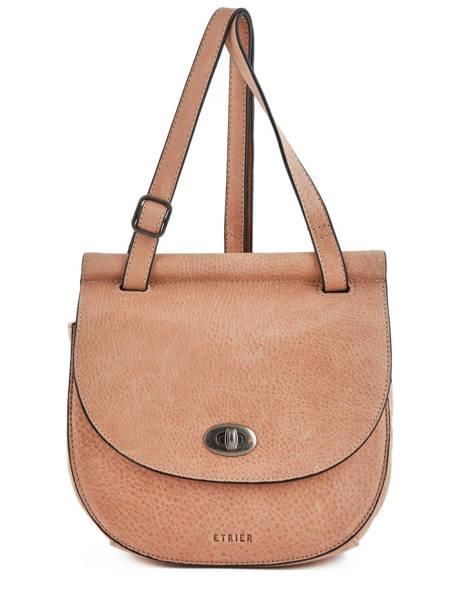 Shoulder Bag Casac Leather Etrier Pink casac ECAS02