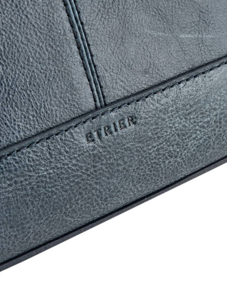 Shoulder Bag Galop Leather Etrier Blue galop EGAL01 other view 1