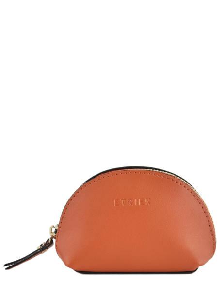 Purse Leather Etrier Orange kyo EKY902