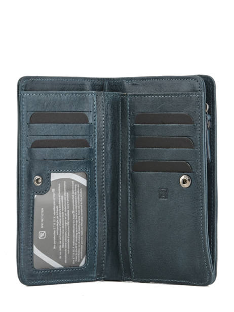 Wallet Leather Etrier Blue galop EGAL906 other view 1