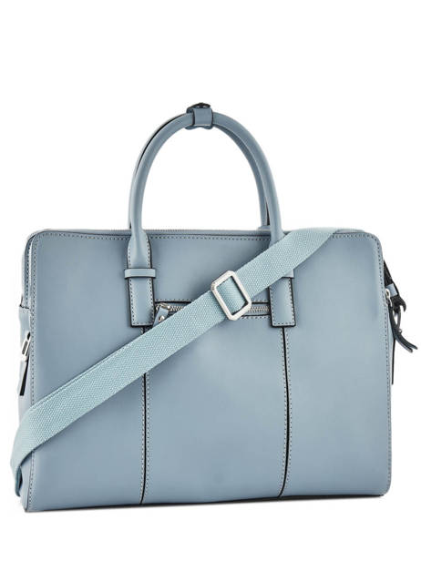 Briefcase Etrier Blue caleche ECAL915 other view 3