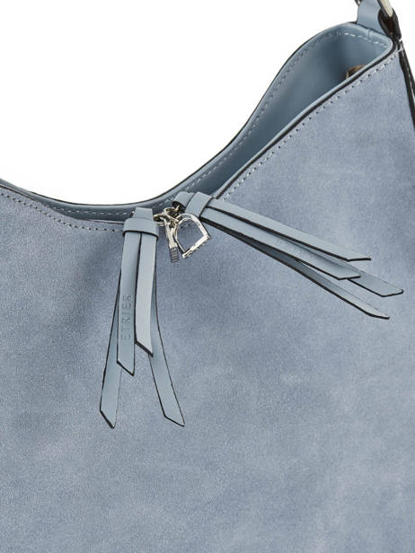 Hobo Bag Caleche Leather Etrier Blue caleche ECAL011B other view 1