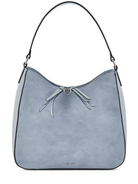 Hobo Bag Caleche Leather Etrier Blue caleche ECAL011B