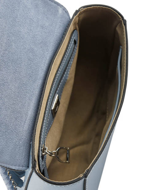 Shoulder Bag Caleche Leather Etrier Blue caleche ECAL012B other view 5