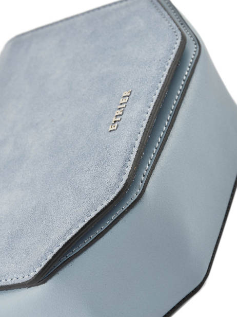 Shoulder Bag Caleche Leather Etrier Blue caleche ECAL012B other view 1