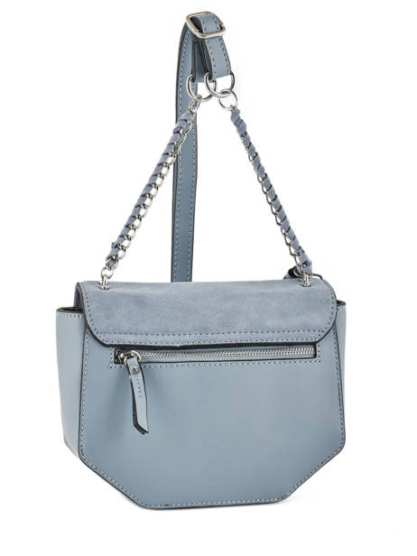 Shoulder Bag Caleche Leather Etrier Blue caleche ECAL012B other view 4