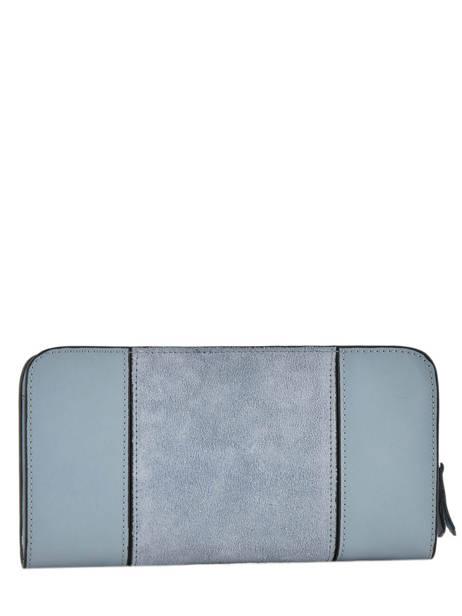 Wallet Leather Etrier Blue caleche ECAL901B other view 1