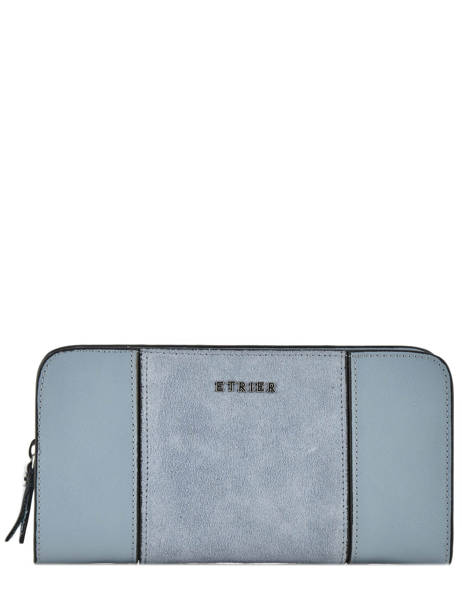 Wallet Leather Etrier Blue caleche ECAL901B