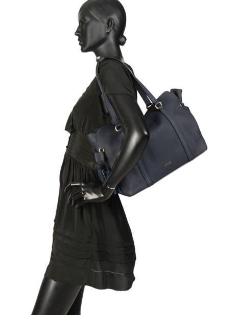Sac Shopping Tradition Cuir Etrier Bleu tradition EHER25 vue secondaire 2