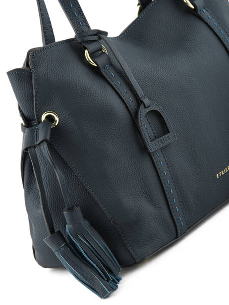 Sac Shopping Tradition Cuir Etrier Bleu tradition EHER25 vue secondaire 1