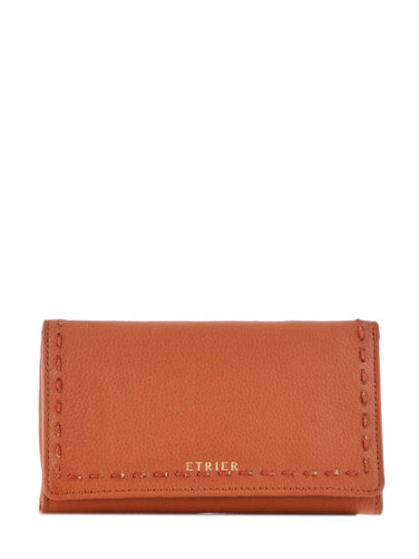 Portefeuille Tradition Cuir Etrier Orange tradition EHER95