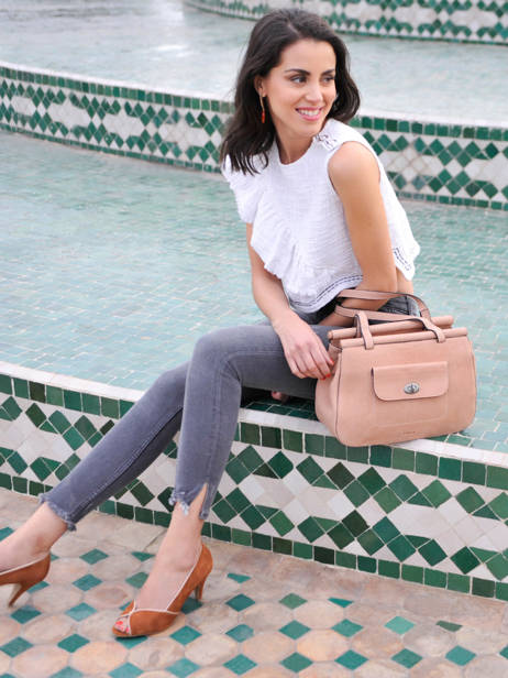 Shopper Casac Leather Etrier Pink casac ECAS04 other view 3