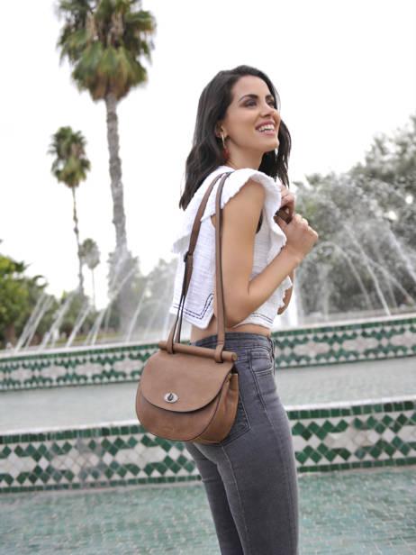 Shoulder Bag Casac Leather Etrier Pink casac ECAS02 other view 3
