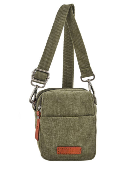 Crossbody Bag Etrier Green canvas ECAN04