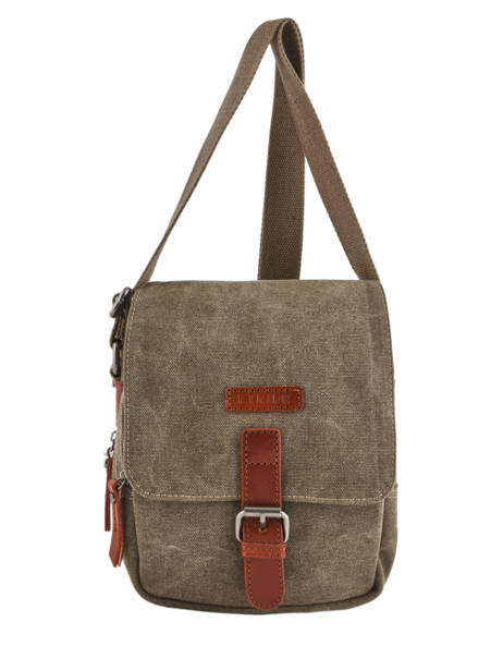 Sac Bandoulière Etrier Marron canvas ECAN03