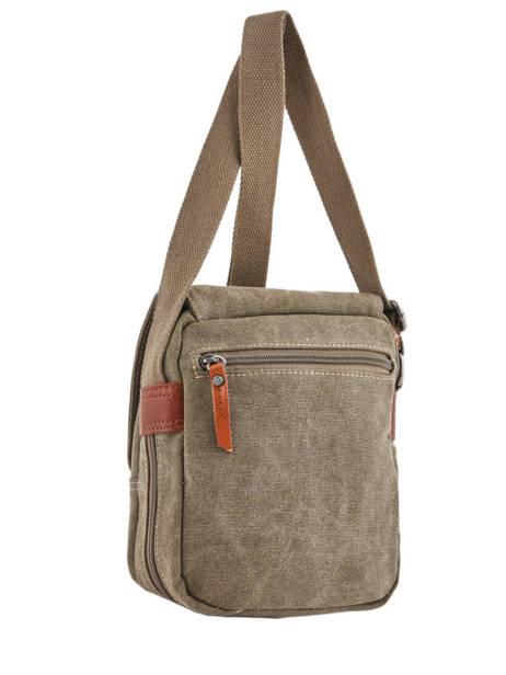 Sac Bandoulière Etrier Marron canvas ECAN03 vue secondaire 3
