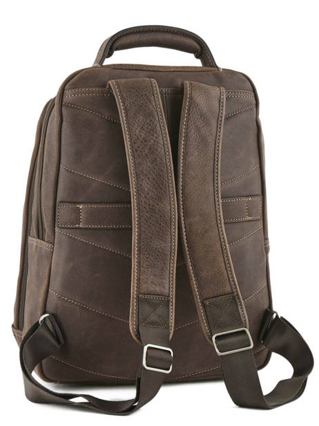 Backpack 2 Compartments + 15'' Pc Etrier Brown spider ESPI03 other view 3