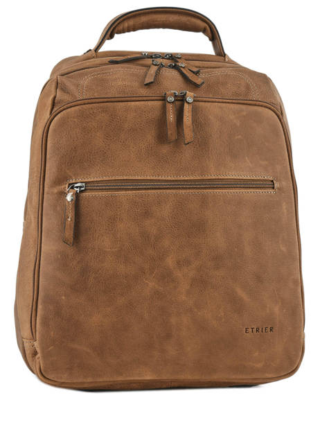 Backpack 2 Compartments + 15'' Pc Etrier Brown spider ESPI03