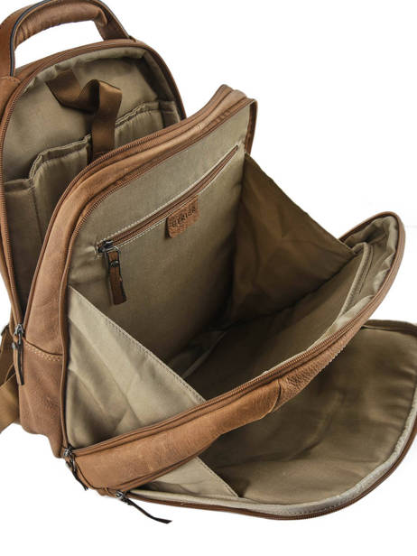 Backpack 2 Compartments + 15'' Pc Etrier Brown spider ESPI03 other view 4