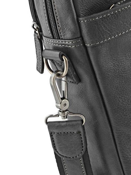 Briefcase 2 Compartments Etrier Black spider ESPI01 other view 4