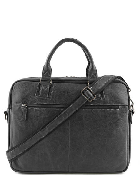 Briefcase 2 Compartments Etrier Black spider ESPI01 other view 5
