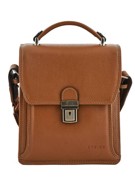 Messenger Bag 2 Compartments Etrier Brown flandres EFLA11 other view 1