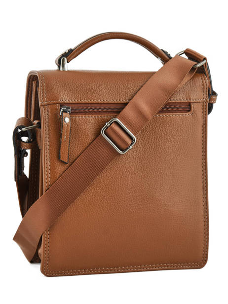 Messenger Bag 2 Compartments Etrier Brown flandres EFLA11 other view 4