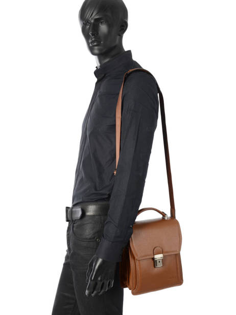 Messenger Bag 2 Compartments Etrier Brown flandres EFLA11 other view 2