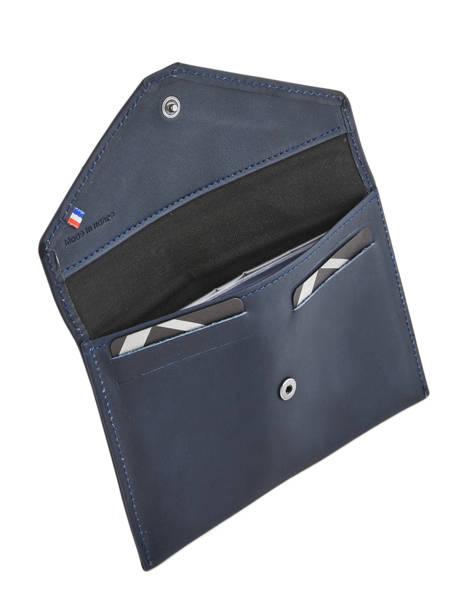 Porte-papiers Cuir Etrier Bleu blanco 600054 vue secondaire 1