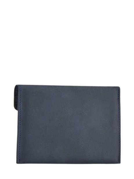 Porte-papiers Cuir Etrier Bleu blanco 600054 vue secondaire 2