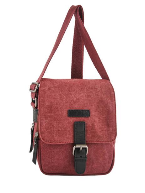 Crossbody Bag Etrier Red canvas ECAN03