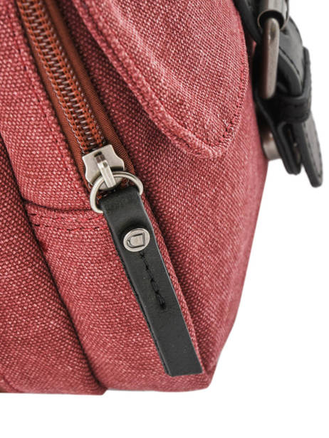 Crossbody Bag Etrier Red canvas ECAN03 other view 1