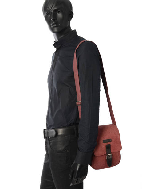 Crossbody Bag Etrier Red canvas ECAN03 other view 2